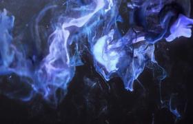 光点炫丽跳动蓝紫粒子烟雾炫酷弥漫MOV动感特效视频