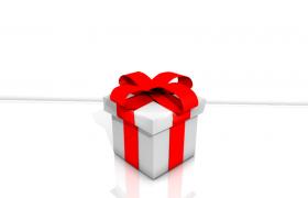 精美红丝绸结带包装制作白色礼物盒C4D模型展示(含贴图)