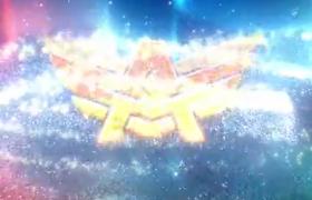 星光粒子组成的logo片头特效AE模板下载