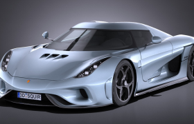限量打造科尼赛克Koenigsegg Regera终极概念跑车模型(obj,c4d,3ds,lwo,max)