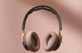 粉色系列女性头戴式耳机创意广告宣传视频素材