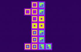 趣味方块字体动画怀旧AE模板下载