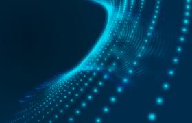 藍色科技粒子鏈網三維效果懸浮科技特效視頻素材