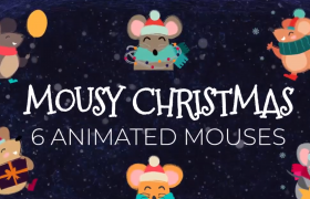 鼠年春节有趣的小老鼠拜年动画Ae模板