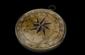 17世纪中叶西班牙航海舰队航海方位指南针C4D收藏品模型展示