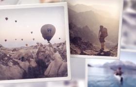 简约干净的温馨相片集动画展示AE模板