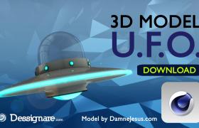 UFO奇幻外星不明飛行物飛行器C4D模型