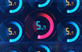 科技圆环震动缓冲光效颜色变幻10秒倒计时特效视频