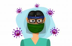 冠狀病毒侵襲醫護人員抗戰疫情防疫宣傳動畫特效視頻