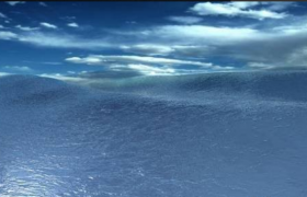 C4D工程预设:动荡的海洋场景动态写实模型展示