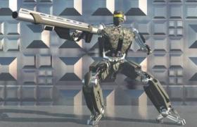 超現代化科技攻防機器人C4D模型(含表面特效貼圖)