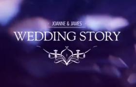 抽象光效背景字母标题婚礼短视频片头ae模板优德w88中文版