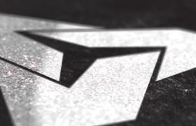 高端质感的反光银色logo标志动画演绎ae模板素材