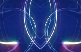 蓝色六边图形背景炫彩光线对称图案刷新10s特效背景视频