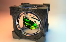 立方體cube魔法球炫酷玩具觀賞性擺件C4D模型