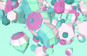 3D几何彩球快节奏活力翻滚抽象动画4K特效视频素材