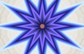 鏡像萬花筒動畫圖案循環擴散變色LED炫麗舞臺背景視頻