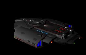 挑釁號NX-74282科幻宇宙飛船3D模型(MTL,OBJ)