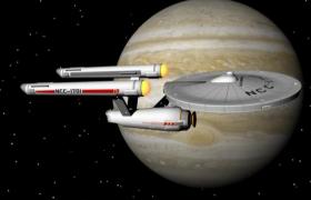 星際迷航U.S.S.Enterprise聯邦星艦進取號企業號OBJ模型