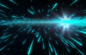 绿色光箭黑色空间极速冲击超视觉渲染4K特效视频