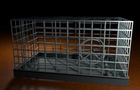 仓鼠笼家养小动物豪华别墅45CM自制基础笼C4D模型