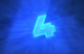 HUD全息效果开场蓝色数字倒计时动画展示ae模板素材