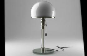 頭罩式白色蘑菇臺燈家居日常用品3D模型(sldprt))