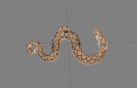 纹斑蟒蛇Python石雕摆件艺术收藏品3D模型展示(obj)