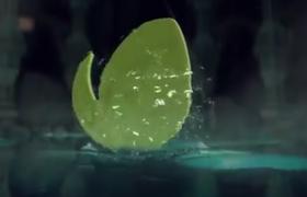 三维场面墓穴水滩浮现的水特效logo标志演绎ae模板素材