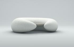 脊椎疾病预防人体工学设计U型护颈头枕C4D模型
