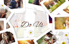 空间感强的情侣婚纱图集相册动画展示ae模板