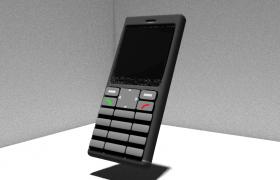 摩托啦啦直板数字按键手机3D模型(blend)