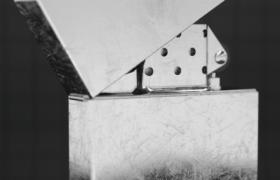 军工材质铸铁煤油打火机现代生火工具C4D模型