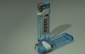 Zippo1元打火机日常用品点火工具3D模型(OBJ格式含贴图)