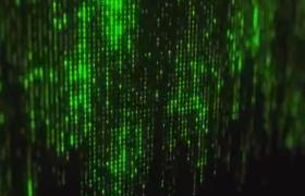 科技代码如同流星雨下降后呈现的logo标志动画展示ae模板