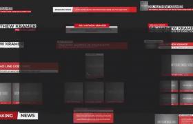 简约干净的新闻栏目包装字幕条文字动画ae模板