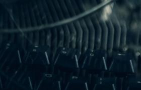老式机械打字机机器与键盘开场动画ae模板