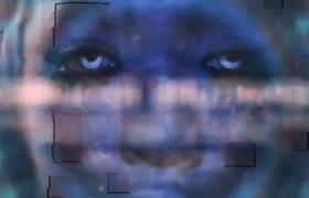 扭曲特效的毛刺科幻電影宣傳片文字動畫展示ae模板
