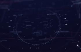 抖动效果的HUD全息网格界面数字标题文字动画ae模板