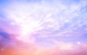 絢爛漸變夢幻云端氣泡飛揚治愈系動畫特效視頻素材