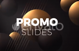 彩色球状背景图商业产品推广宣传片ae模板