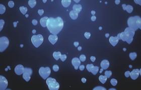 520表白3D愛心氣泡飄零懸浮夢幻視覺特效背景視頻