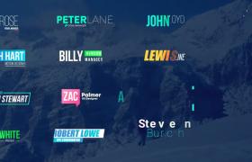 簡約干凈公司字幕條標題商務排版文字動畫ae模板