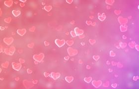 520情人節粉色戀愛系愛心旋轉漂浮MOV特效視頻
