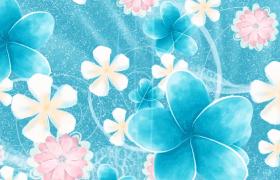 彩繪鮮花流動效果清新春天畫面感HD特效背景視頻