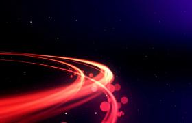 深邃粒子空间炫红浮光线条渲染精彩片头MOV特效视频