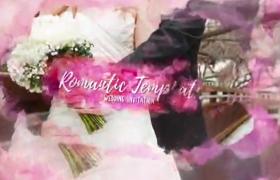 梦幻婚礼玫瑰边框开场片头图片展示ae模板