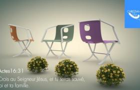 公益節能廣告宣傳輕便簡約型布藝折疊座椅C4D模型