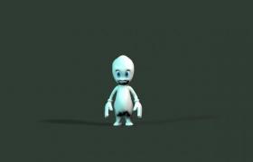 C4D白色可愛卡通人物基礎建模制作下載(含材質)