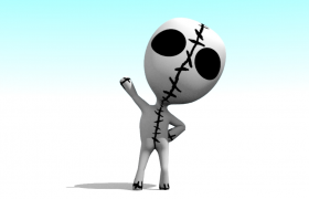 瘋狂的外星人卡通外星生物3D模型展示(3ds,obj,blend,mtl)